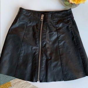 All Saints leather mini skirt